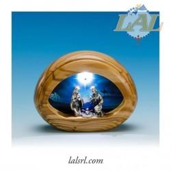 PRESEPE LEGNO ULIVO LED E...