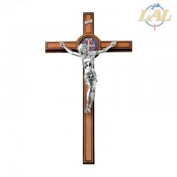 Croce in legno con medaglia...
