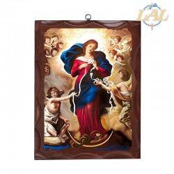 Icona su tela in legno...