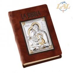 BIBBIA IN PELLE MARRONE CON...